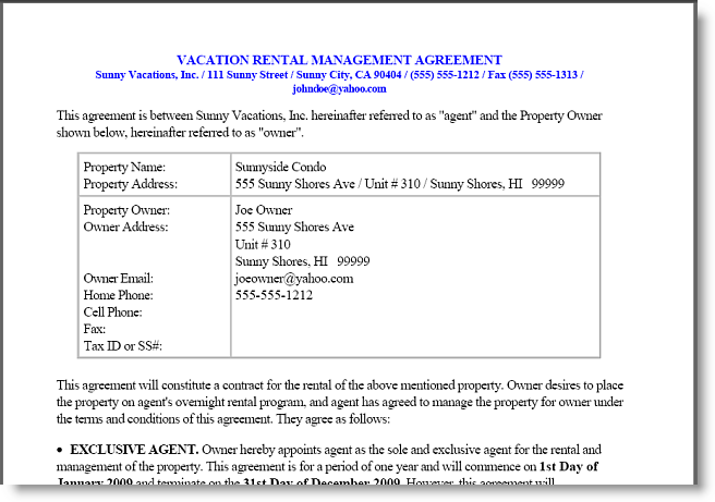 Includes Sample Templates For Rental Agreements, Owner Management Agreements,  ...