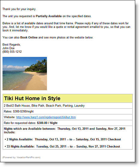 Full Featured Vacation Rental Software
