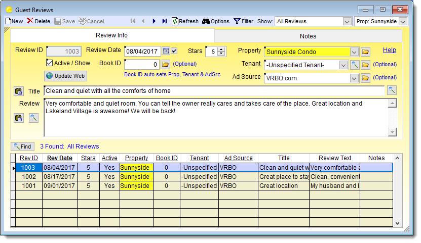 Product Info – Vacation RentPro Software